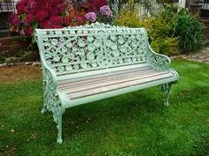 Like the color of this garden bench.  What color do you think it is???