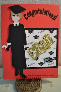 Kim Ferguson's Crafting Blog - Rubber Stamping and Scrapbooking: Cricut Paper Doll Teen Scene - Graduation Cards