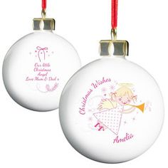 Angel Christmas Bauble | Personalise | Christmas | Absolutely Adorable