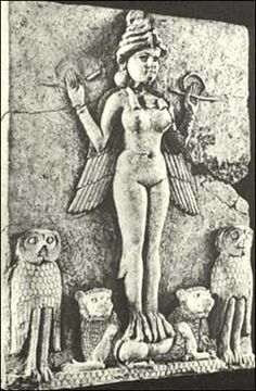 Who was Ishtar? When and where did people worship the fertility god Ishtar? How does the story of Ishtar and Tammuz relate to the seasons changing? Ancient Goddesses, Gods And Goddesses, Ancient Mesopotamia, Ancient Civilizations, Ancient Aliens, Ancient History, Pagan Origins Of Easter, Turm Von Babylon, Potnia Theron