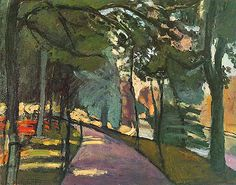 Painting Title: Path in the Bois de Boulogne, 1902 | Artist: Henri Matisse (1869-1954) | Medium: Fine Art Painting Reproduction by TOPofART.com