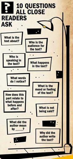 Questions good readers ask