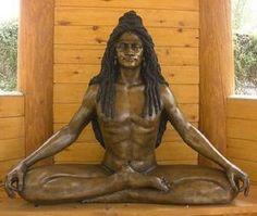 Baba Siri Chand the Son of Guru Nanak and Founder of Udasi Sect: Modern-day Bronze Likeness of Baba Siri Chand Sculpted by Amrit Singh Khalsa