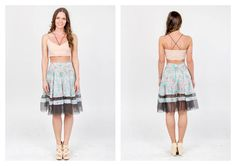 PARADOX SS15 'Details' Collection Powderpink bralet - 12.000HUF Floral printed skirt w/ tulle - 23.000HUF