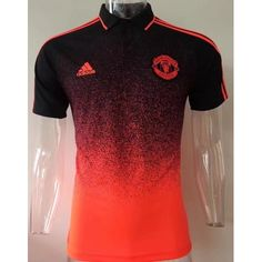 MANCHESTER UNITED BLACK/RED POLO SHIRT
