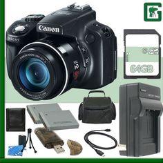 Canon PowerShot SX50 HS Digital Camera + 64GB Green's Camera Package 4  http://www.lookatcamera.com/canon-powershot-sx50-hs-digital-camera-64gb-greens-camera-package-4-3/
