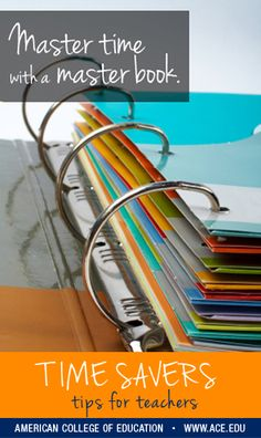 "Don't waste time sifting through piles of worksheets - save yourself the headache and create a ""master book,"" a tool that organizes all your papers and keeps them all in one place. Tackle your mound of papers by sorting through each one, tossing what you don't need and keeping one copy of every important worksheet. Place them in a 3-ring binder with dividers for each month."