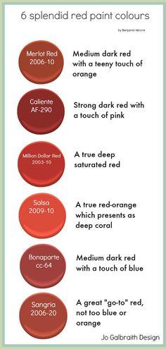 Six Splendid Red Paint Colours For Your Door