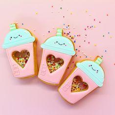 Goodnight 🙈⭐️ ...… Summer Cookies, Fancy Cookies, Valentine Cookies, Iced Cookies, Cute Cookies, Royal Icing Cookies, Cupcake Cookies, Cupcakes, Kawaii Cookies