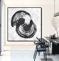 Original Abstract Painting Extra Large Canvas by CelineZiangArt