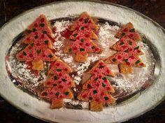 Kerstboom toastjes