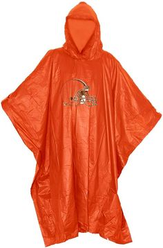 Don't let the rain keep your from supporting your team with the Northwest® Cleveland Browns Poncho. Rain Poncho Features team logo at center Weatherproof Material Water resistant material keeps you dry Made of clear PE material Additional Details Compact design to fit in pocket, purse or bag Officially licensed by the NFL Rain Poncho, Cleveland Browns, North West, Team Logo, Compact, Nfl, Purse, Pocket, Water