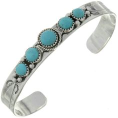 Natural Kingman Turquoise Ladies Cuff displays a row of genuine Arizona stones that are just gorgeous! Gold And Silver Bracelets, Cheap Silver Rings, Silver Jewelry, 925 Silver, Silver Earrings, Gold Jewellery, Diamond Jewelry, Ankle Bracelets, Jewelry Bracelets