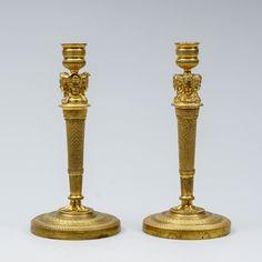 Kynttilänjalkoja pari, messinkiä, k cm. Candle Holders, Candles, Design, Porta Velas, Candy, Candle Sticks, Candlesticks, Candle