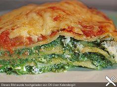 Spinat - Feta - Lasagne, ein raffiniertes Rezept aus der Kategorie Gemüse. Bewertungen: 29. Durchschnitt: Ø 4,0.