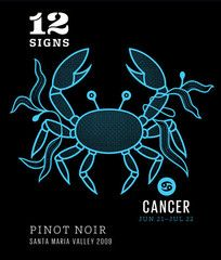 """Cancer - Pinot Noir - """"Wine of Love"""" Our Wine + Your Sign   12 Signs Wine"""