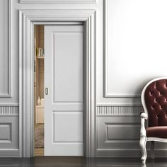 Types of interior doors to choose from when renovating – Steelhead Contracting Ltd. One of the biggest challenges our customers face when renovating their homes is deciding on the finishing touches, including interior doors. Sliding Pocket Doors, Sliding Door Systems, Glass Pocket Doors, Glass Doors, Double Doors, Primed Doors, Neoclassical Interior, Fire Doors, Architrave