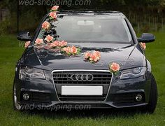 Wedding Car Decoration orange flowers