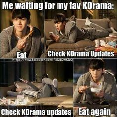 I do this but I also get fed up with waiting so start another drama, sometimes one that has already finished and sometimes one that hasn't. Ji Chang Wook, Healer Kdrama, Korean Drama Funny, Drama Fever, Drama Drama, Netflix, Park Min Young, Kdrama Memes, Fans