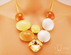 Maxi Colar Gold Luxo Pedras
