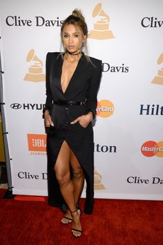 She'll make a tuxedo dress look like the chicest thing you've ever seen. | 23 Times Ciara Gave You Complete And Utter Style Goals
