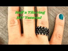Half a Tila Ring, beaded ring - DIY TutorialMake the jewelry you love all by yourselves :) Welcome to another DIY Tutorial. This video will teach you how to make a Half Tila Ring. Beaded Jewelry Designs, Bead Jewellery, Seed Bead Jewelry, Diy Rings Tutorial, Resin Tutorial, How To Make Rings, Make Your Own Jewelry, Beading Patterns Free, Beading Tutorials