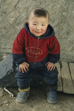 Kazakh child in Western Mongolia.