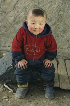 Kazakh child in Western Mongolia.