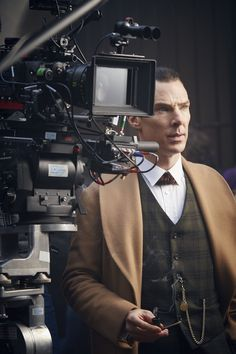 SHERLOCK (BBC/PBS) ~ Benedict Cumberbatch as Sherlock Holmes behind the scenes during the filming of the pre-Season 4 special, SHERLOCK: THE ABOMINABLE BRIDE, which premieres January 1, 2016 on BBC and PBS.