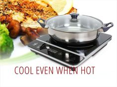 Rosewill 1800-Watt Induction Cooker with Stainless Steel Pot