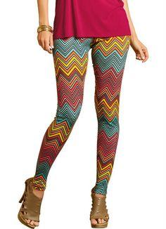 Calça Legging com Estampa Zigue Zague Quintess - Moda Feminina Calça Legging Moda Feminina - Quintess - Moda Feminina