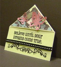 Corner Bookmark made with CTMH Wings paper, shimmer butterflies, heat embossing