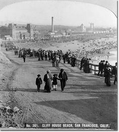 Ocean Beach. View looking southeast from the Cliff House circa 1905.