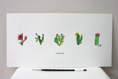 New post on Yellow Me. #WaterColourArt #Cactus Ik had een prikkelbaar weekend. Ik maakte dan maar een nieuwe 5-reeks cactussen.