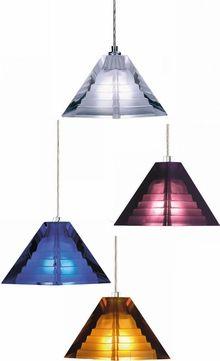 Tech Pyramid Low-Voltage Halogen Art Glass Pendant Light