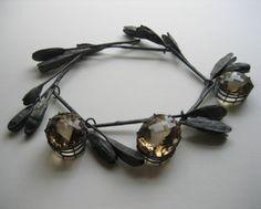 Georg Dobler, necklace, oxidised silver, citrines