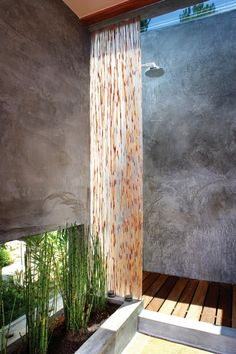 indoor/outdoor shower