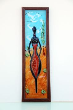 fused glass Painting Picture  African Ladies image by virtulyglass, $60.00