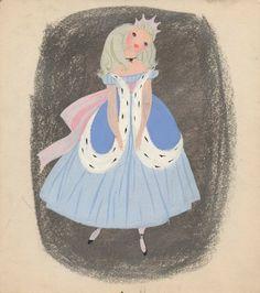 Cinderella art by Mary Blair Mary Blair, Cinderella Art, Cinderella Sketch, Walt Disney Animation, Disney Artists, Disney Concept Art, Visual Development, Vintage Disney, Princesas Disney