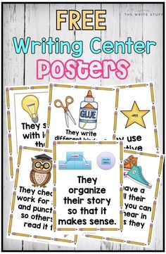 Set up your writing center with these FREE 6 trait writing posters in kid-friendly language.
