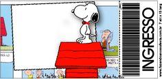 Convite Ingresso  Snoopy: