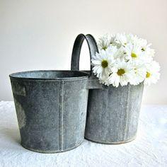 double galvanized bucket
