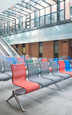 Public seating, Floating Frame chair by Alias Design.