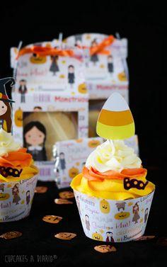 Cupcakes a diario: Cupcakes de vainilla rellenos de crema de piña y Pedro Ximénez