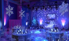 Over the top winter wonderland for a corporate Christmas party. I would have loved an invite to this event!