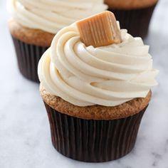 Caramel Apple Butter Cupcakes   Baked by Rachel