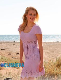 """Летнее платье """"Эмма"""" от Drops Design, вязаное спицами   Блог elisheva.ru"""
