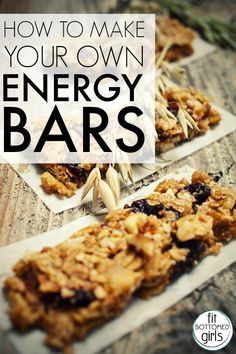 How to make your own energy bars at home!