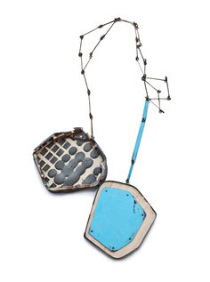 Demi Thomloudis Necklace: Detached Compliment 2013 Cement, plywood, nickel silver, sterling silver, pigment