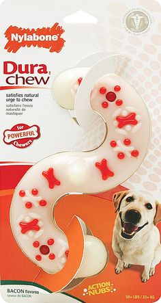 Nylabone Dura Chew S Shape, Bacon Flavor * Discover this special dog product, click the image : Dog Toys